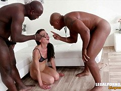 Ebony bulls vs white sissies two