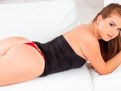 Playful anal model Mila Fox is being created for intensive anal porn
