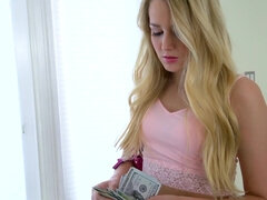 Teen hooker Scarlett Sage sucks and has sex with a stranger for money