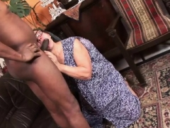 Black man gets down and dirty a naughty granny