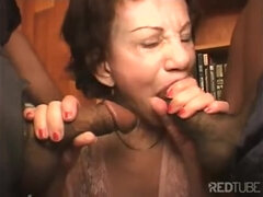Orgy procreation grannies sucking black dicks with love