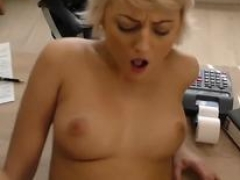 LOAN4K. Blonde-haired miss gets sissy banged hard in loan pornography movie