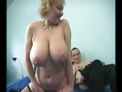 Granny Big Saggy Jugs Stockings Fucked