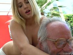 Aria Logan sex video - grandpa got me wet