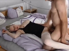 German wifey got toasted and cheated on her hubby with her manager in the motel