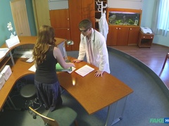 Fake Hospital (FakeHub): Doctor Gives His New Receptionist A Full Body Fucking