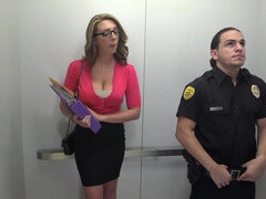 Busty woman likes police officers