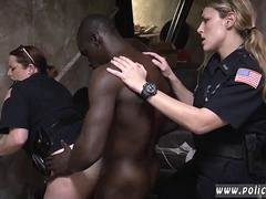 Big black purple rod for these a duo super lascivious white police females