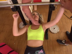 Weights & Bondage: Hardcore Double Anal Penetration At The Gym