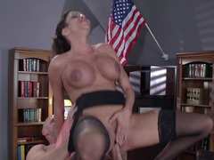 Sexy tootsie Ariella Ferrera and plus strict boss Johnny Sins get down and dirty