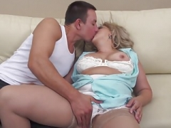 Taboo sex with mature hairy mother and moreover son