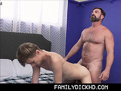 otter Step parent drills Twink Step Son After Losing His Job