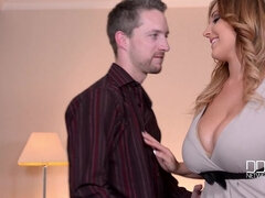 All Aboard The Titty Train - Couple's Juicy Titty Fuck