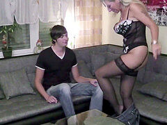 German mommy seduce Not Her Step-Son to plow