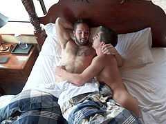 bisexous fag threeway - Jeff and Atticus take turns with Lukas