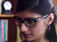 Mia Khalifa sensually fucked in the library