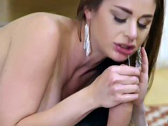 Danny D giving a blowjob on hot milfs hooters so yummy to lick