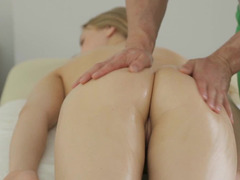 A blonde with a firm round ass is getting her tight groped