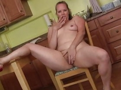 Northern american mom i`d like to fuck Christina Sapphire finger bangs herself in kitchen