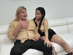 Rebel Alona Bloom gets a lesson from aunt Katie Morgan and her husband in sex