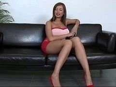 Long legs and additionally large tits. Donna Bell