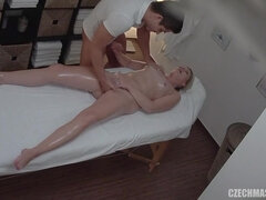 Lustful MILF mind-blowing massage sex