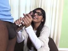 Unshaved arab genital cumshot Mia Khalifa Tries A Large Black Dick