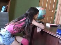 Small little asian 18 y.o. school chick gets tight love hole broken & facial cumshot