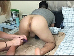 training apex! Getting his Asshole prepped for Pegging