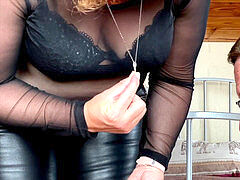 mistress domme April - sub locked up