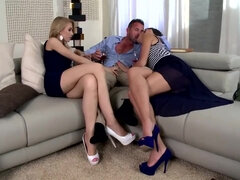 Me And My Two Angels - Threesome Porn Video
