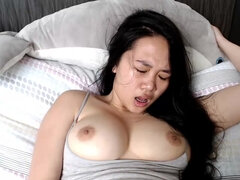 SENSUAL asian minx with big boobs - hot solo