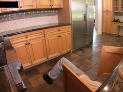 Savannah Sixx Latina Coed Copulated In Kitchen