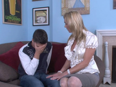 Blonde gets her panties removed by her son in law and additionally she is humped