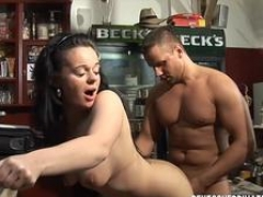 DeutschPrivatVideos - Dirty Brunette Banged in the Bar