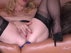 Auntie Lucinda Lingerie & High Heels Jerk Off Instruction