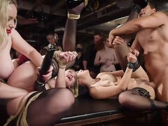 Crazy orgy with awesome babes Kendra Spade, Riley Reyes and Aiden Starr