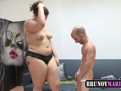 Skinny freak and BBW whore