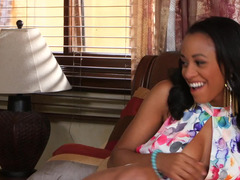 Lovely Ebony teen has an affair with her sexy governess