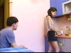 Brother Seduces Sister While Parents Not Home
