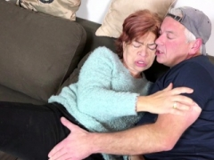 STEP SON Entice UGLY HAIRY GR&MA TO Have an intercourse & SWALLOW CUM