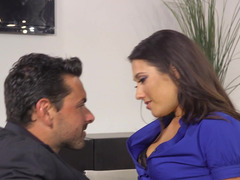 Fine Latina that enjoys attention is fucking in the office