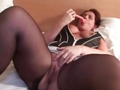 My Sexually available mom Exposed Sexy non-pro wife in crotchless stockings