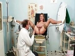 Viktorie kinky gyno pussy speculum inspection by aged doctor