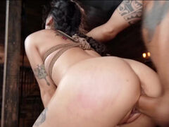 Sweet Asian babe follows every instruction of her master in dungeon