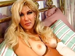 Excited Blonde Housewife With Dildo
