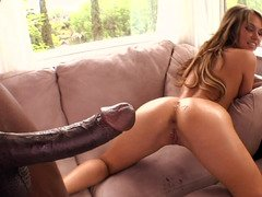 BBC pounds the asshole of lascivious kitten Aleska Diamond