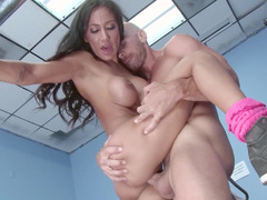 Fitness kitten Amia Miley fucking in flexible positions