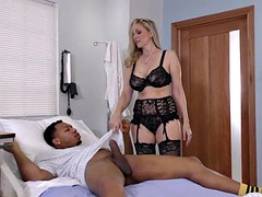 mature nurse soothes bbc