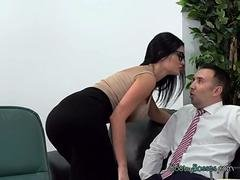 Breasty Secretary Jasmine Jae Gets Her Mouth Fucked